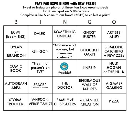 Fan Expo Bingo